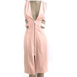 NBD Peach Caged Dress